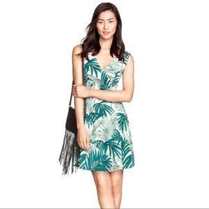 H&M Palm Leaf Print Skater Dress